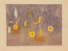 Gerhard Floß (Glauchau 1932 - 2009 Schwerin, deutscher Maler u. Grafiker, Std. a.d. AK Dresden,