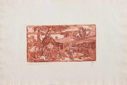 Christian Butter (Meißen 1938 -, deutscher Maler u. Grafiker, Porzellanmalerausbildung, Std. a.d. HS
