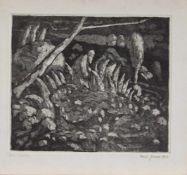 Reinhart Gruner (Dresden 1937 -, deutscher Maler, Grafiker u. Keramiker, Std. a.d. Universität