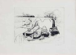 Roland Ginskey (Reichenberg 1937 -, deutscher Maleru. Grafiker, Std. a.d. HS f. Grafik u.