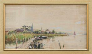 Walter Moras(Berlin 1854 - 1925 ebenda, Landschafts- u. Marinemaler in Mecklenburg, Rügen, Norwegen,