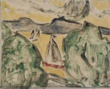 Heinz Dubois(Schwirgsten 1914 - 1966 Wismar, deutscher Maler, Std. a.d. AK d. Künste Königsberg u.a.
