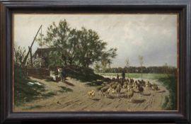Carl Malchin(Kröpelin 1838 - 1923 Schwerin, Figuren-, Landschaftsmaler u. Zeichner, Std. a.d. KS
