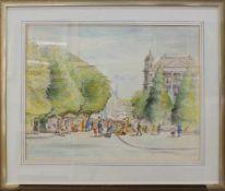 Carl Robert Paeschke(Neumark 1895 - 1983 Ascaona, Maler, Zeichner u. Aquarellist)MarkttagAquarell,