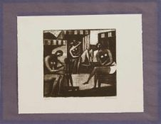 Toni Florence Mau(Berlin 1917 - 1981 Berlin, deutsche Malerin, Grafikerin u. Hochschullehrerin, Std.