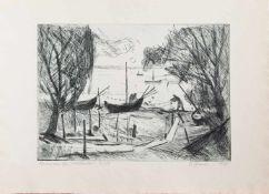 Reinhart Gruner(Dresden 1937 -, deutscher Maler, Grafiker u. Keramiker, Std. a.d. Universität