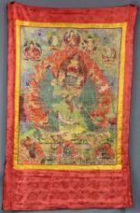 Lot 11 - Thangka, China / Tibet alt. Avalokiteshvara. Bodhisattva des Mitgefühls.84 cm x 63 cm ohne