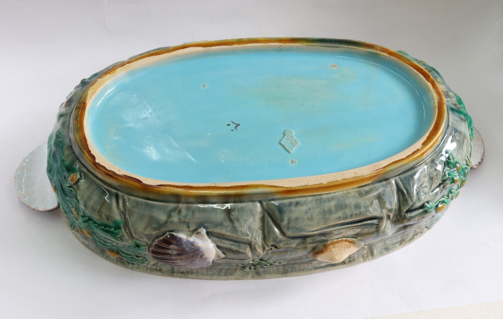Lot 20 - A Minton Majolica lobster tureen and cover, circa 1870,