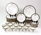 Lot 57 - A Wedgwood part dinner service, with The Royal Green Jackets crest, 12 soup plates,