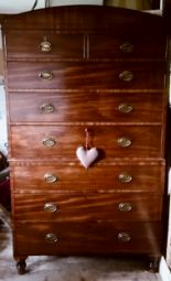 Lot 759 - A George IV mahogany chest on chest with two short over six long drawers fully restored and in