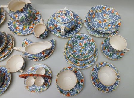 "Lot 7 - A SELECTION OF MULTI COLOURED ""FANTASY"" BRANDED BARKER BROTHERS OF STAFFORDSHIRE TABLE WARES to"
