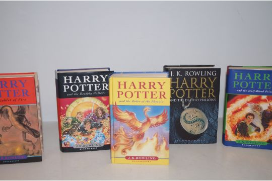 Collection Of Five First Edition Harry Potter Books