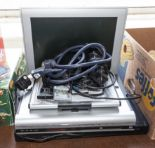 Lot 17 - A small TV, video and DVD player