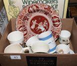 Lot 43 - A small box of pottery