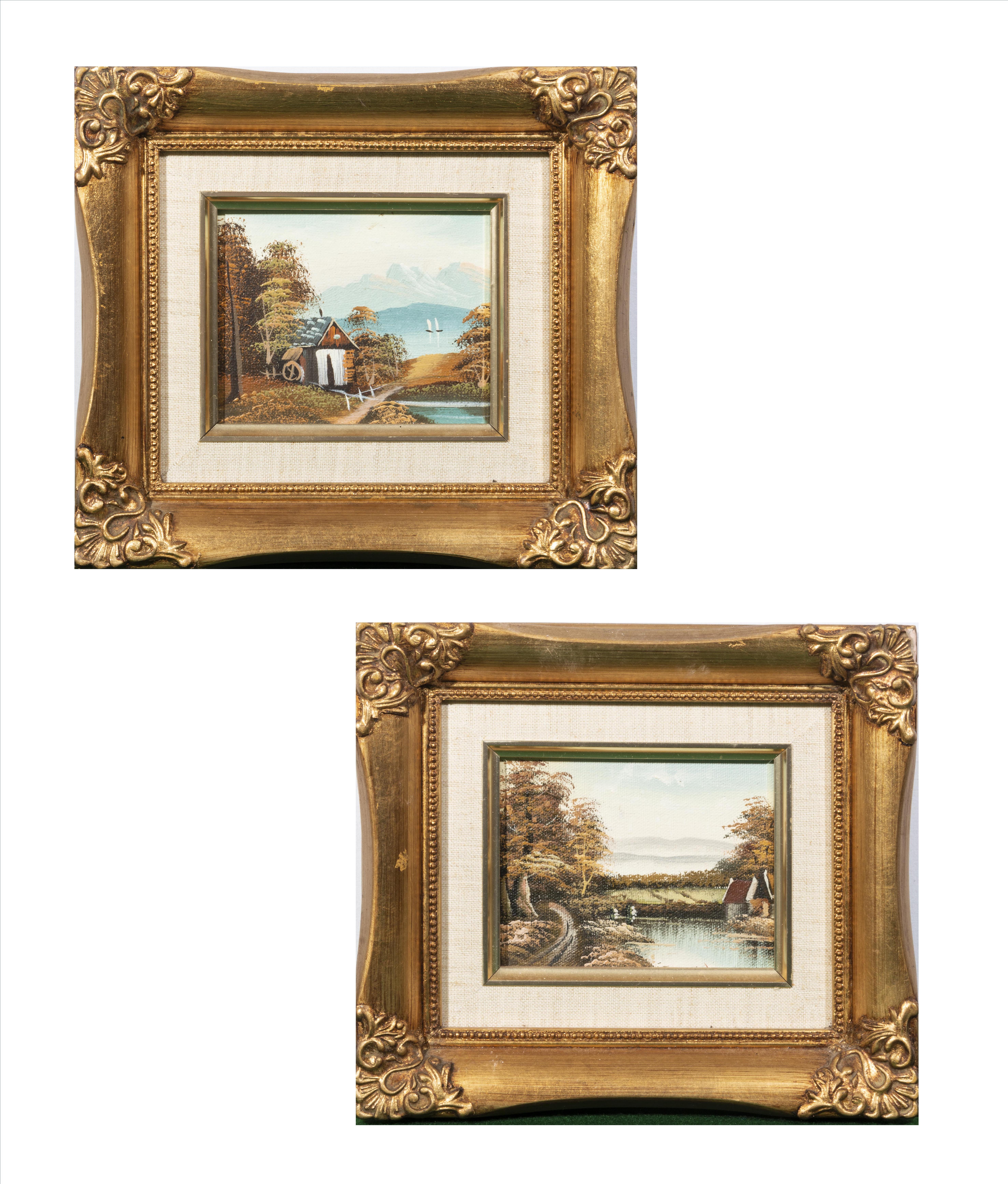 Lot 31 - A pair of gilt framed pictures