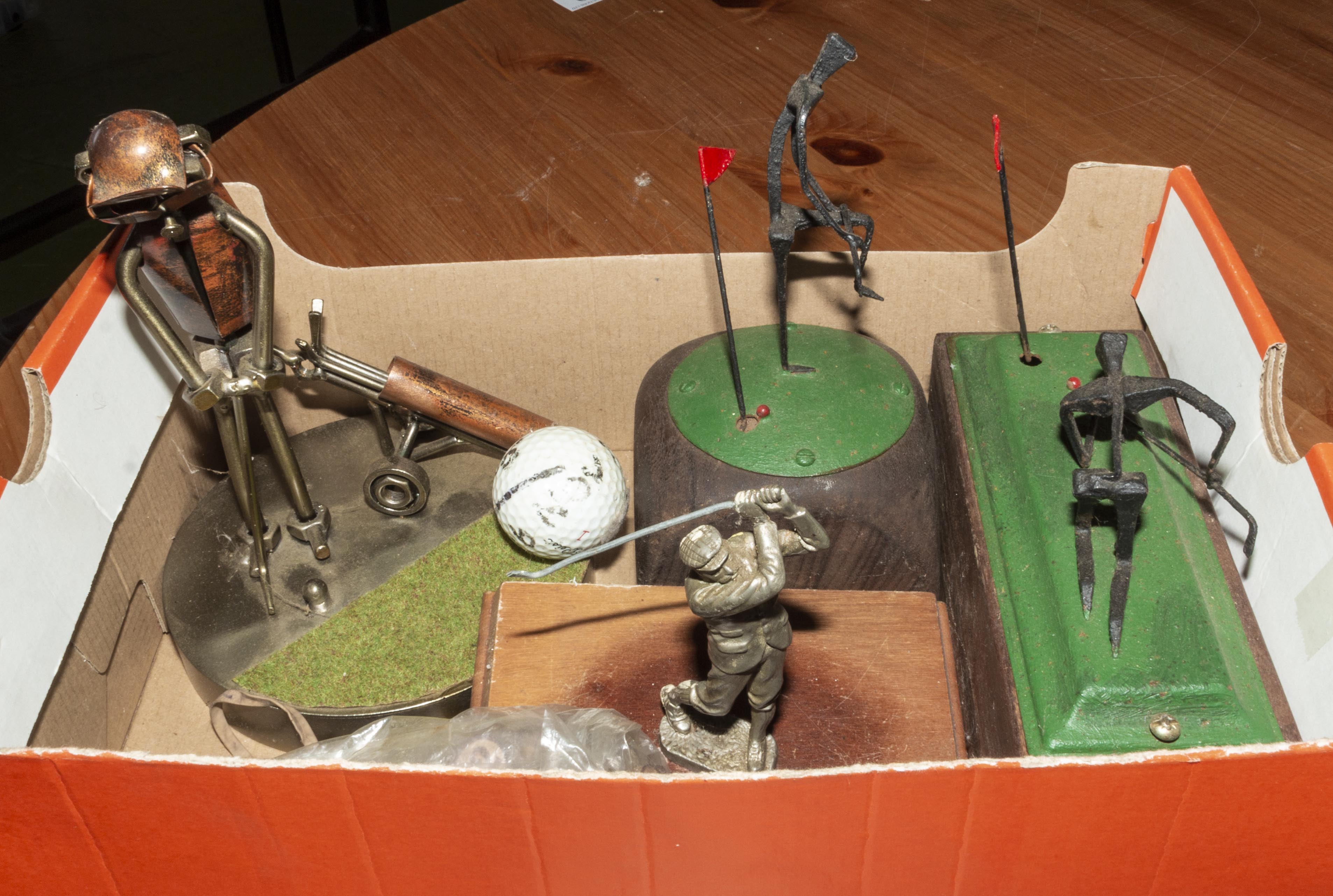Lot 36 - A box of metal figures