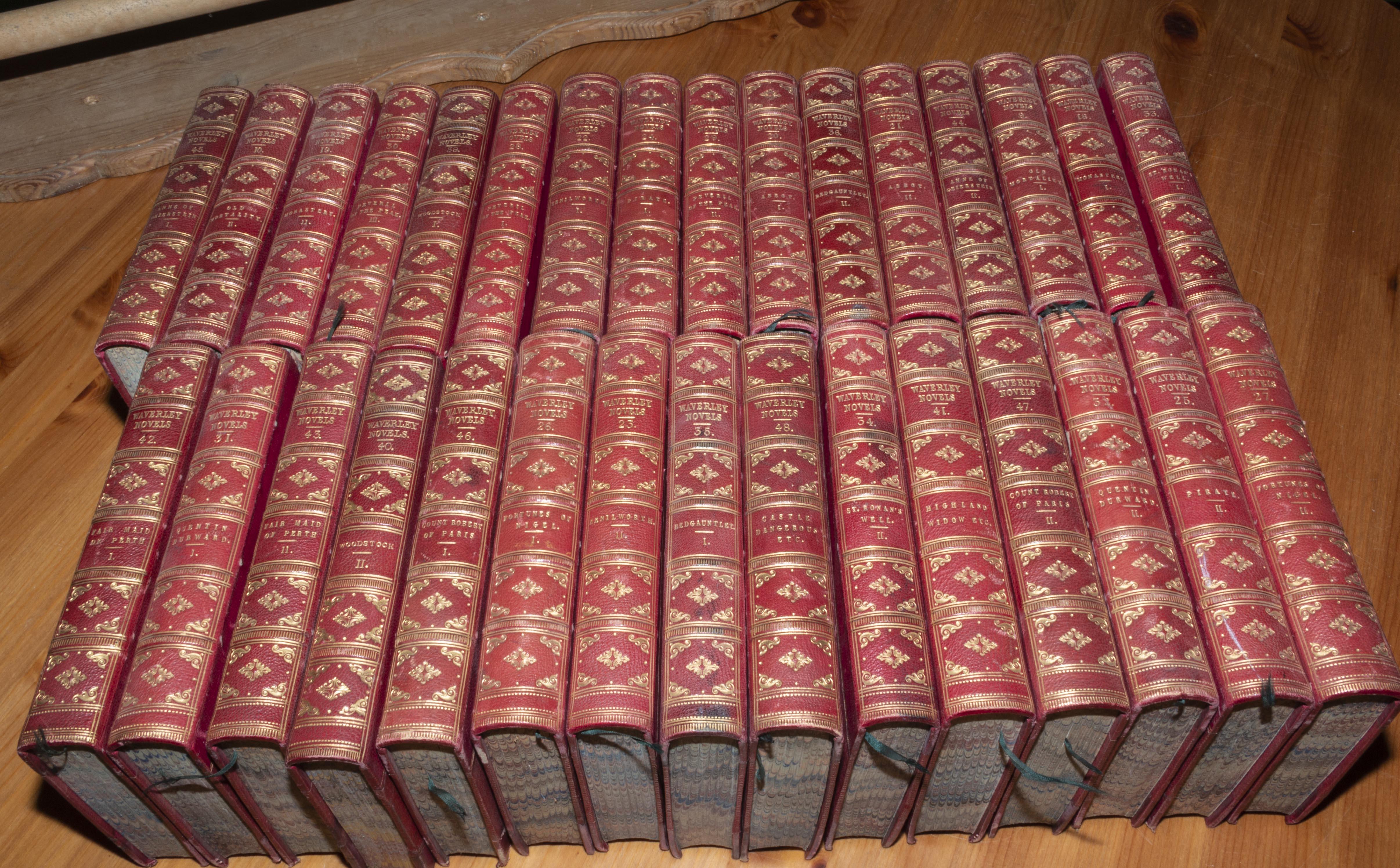 Lot 13 - 31 Waverley novels