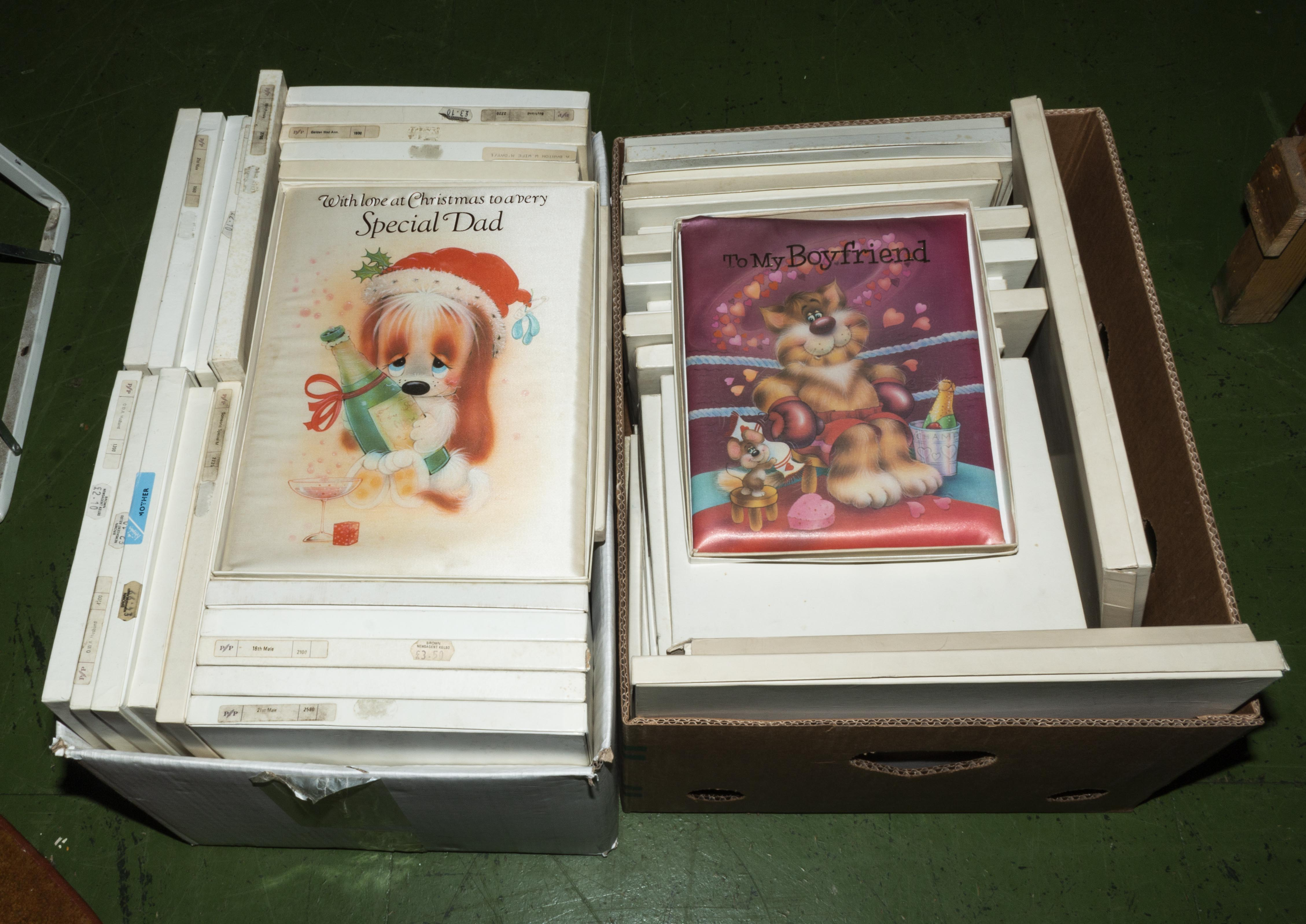 Lot 14 - Two boxes of greetings cards