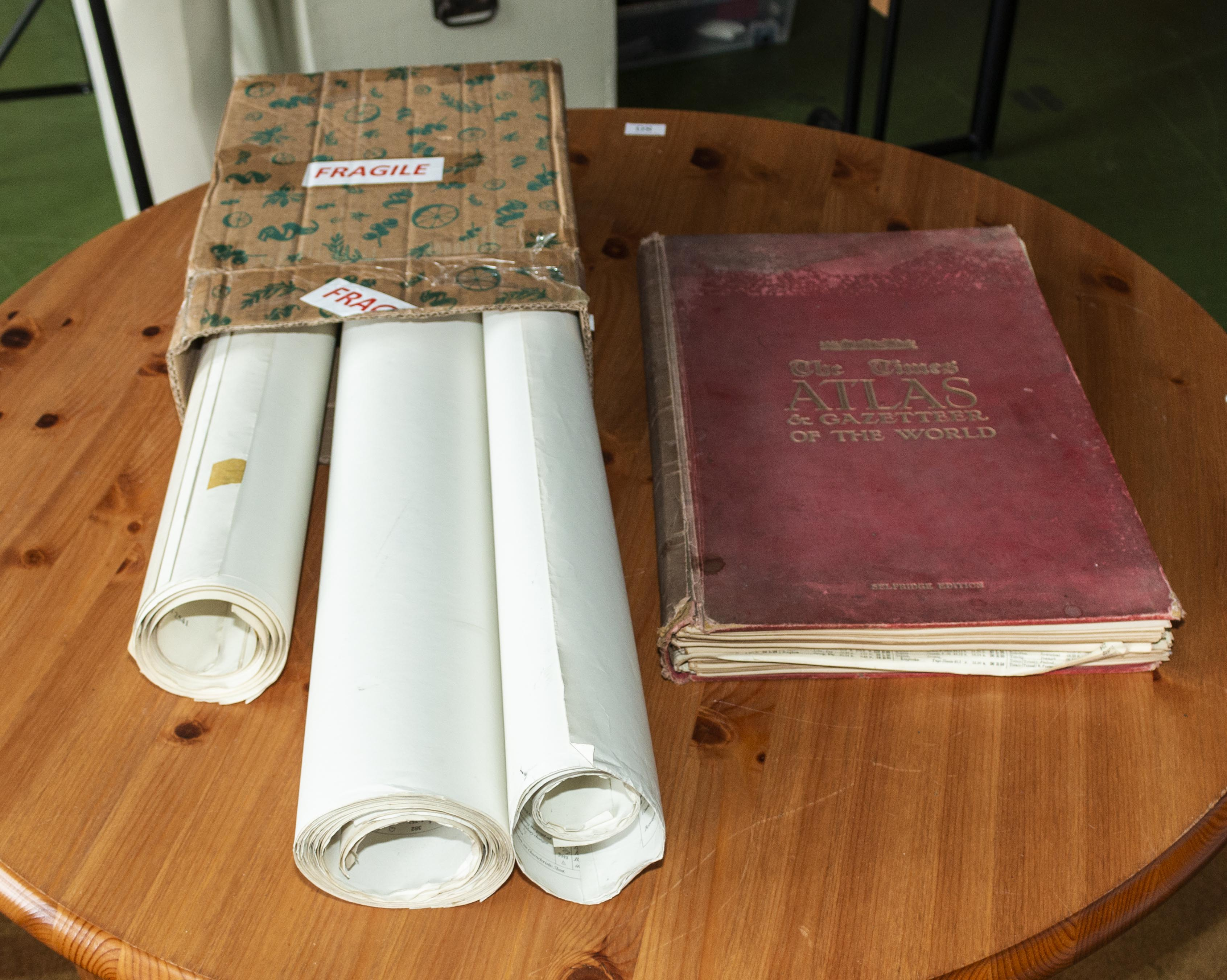 Lot 12 - An Atlas and three maps