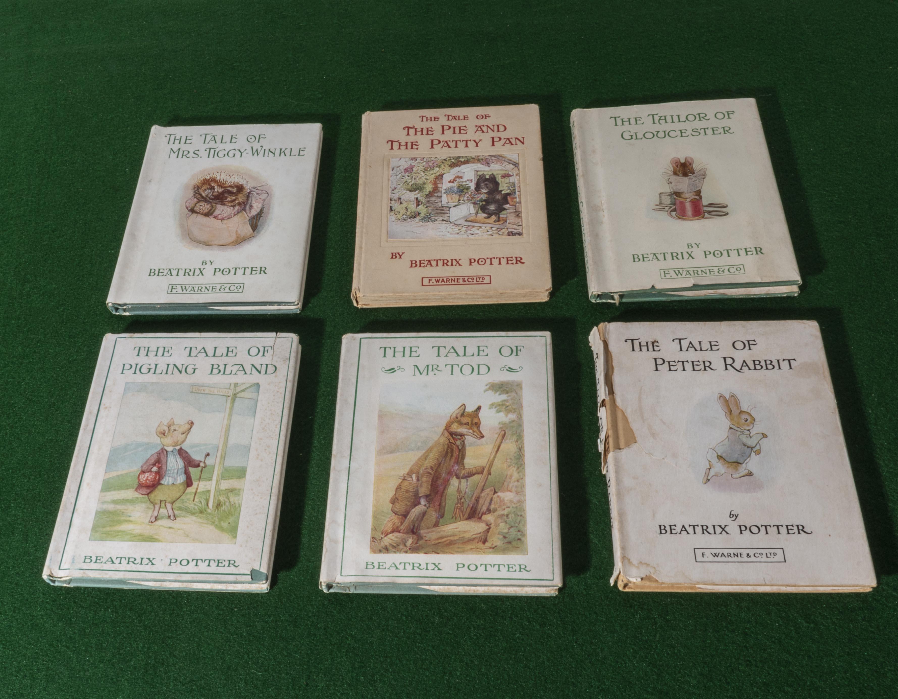 Lot 52 - Six 1965 editions of Beatrix Potter tales,