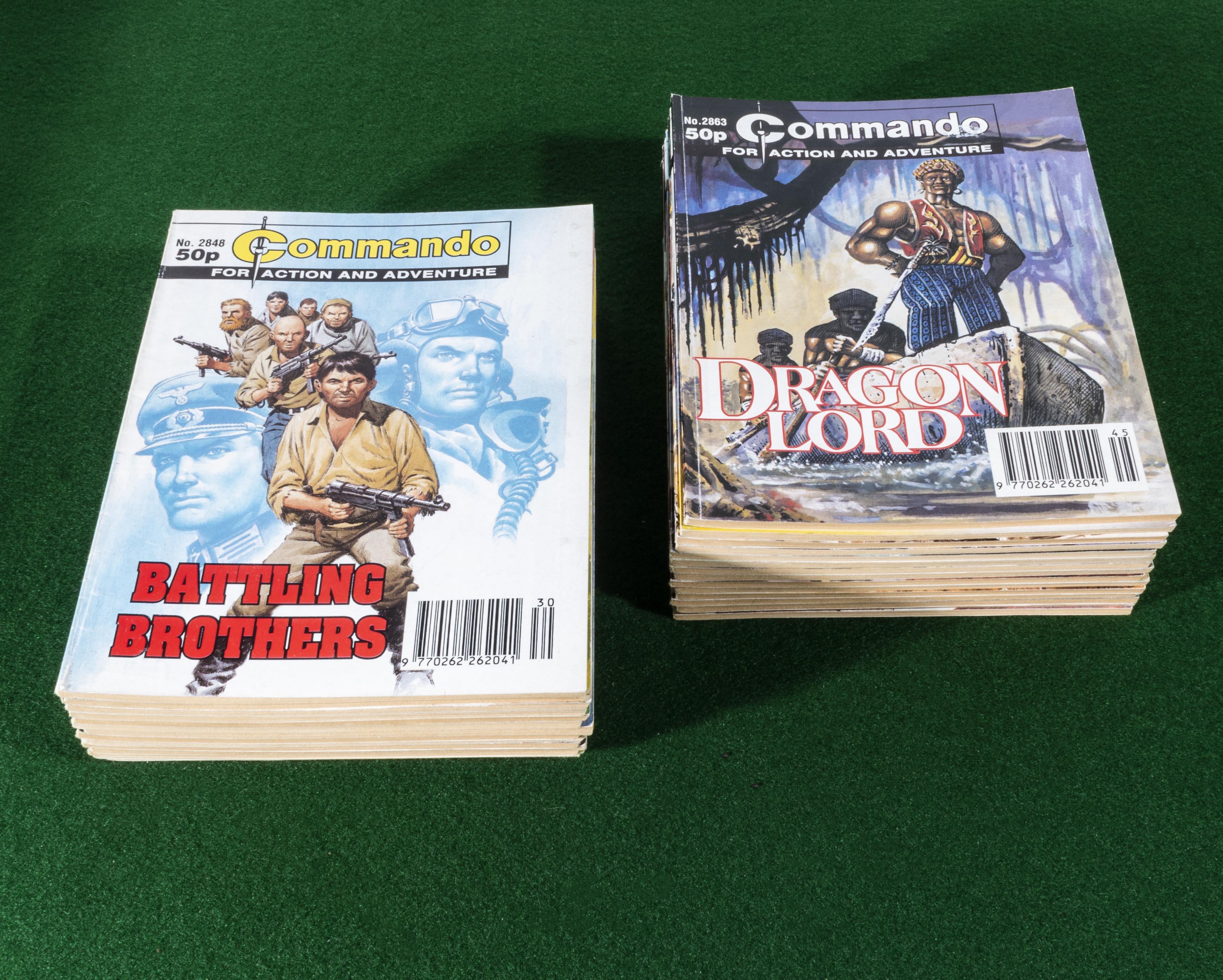 Lot 20 - 30 Commando comic books 2848/77 1995
