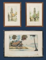 Lot 47 - Three framed watercolours