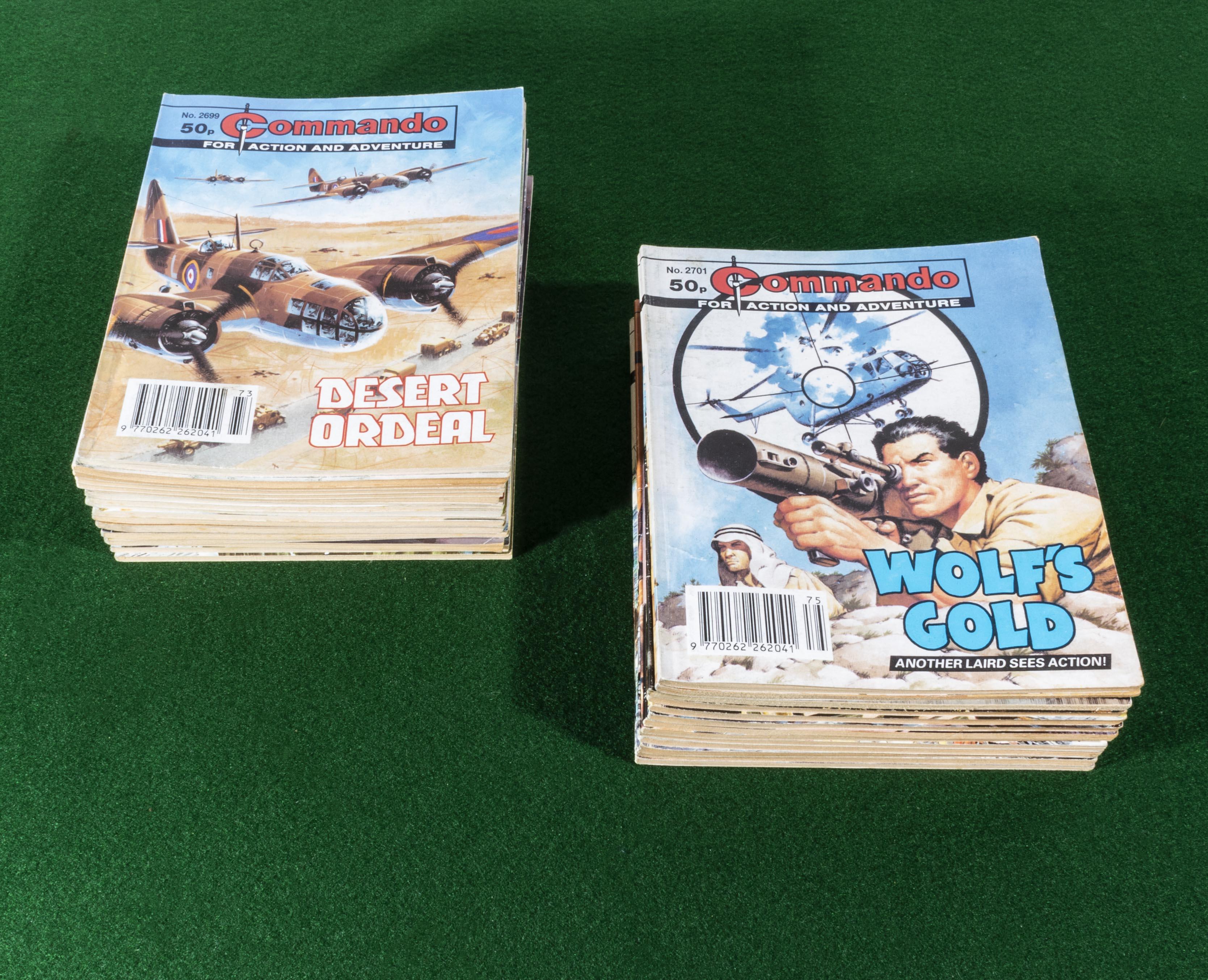 Lot 24 - 30 Commando comic books 1993/2004