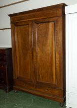 Lot 7 - A French mahogany wardrobe.