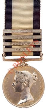 "Lot 472 - HMS Royal Sovereign ""Trafalgar"" Naval General Service Medal Four Clasps."