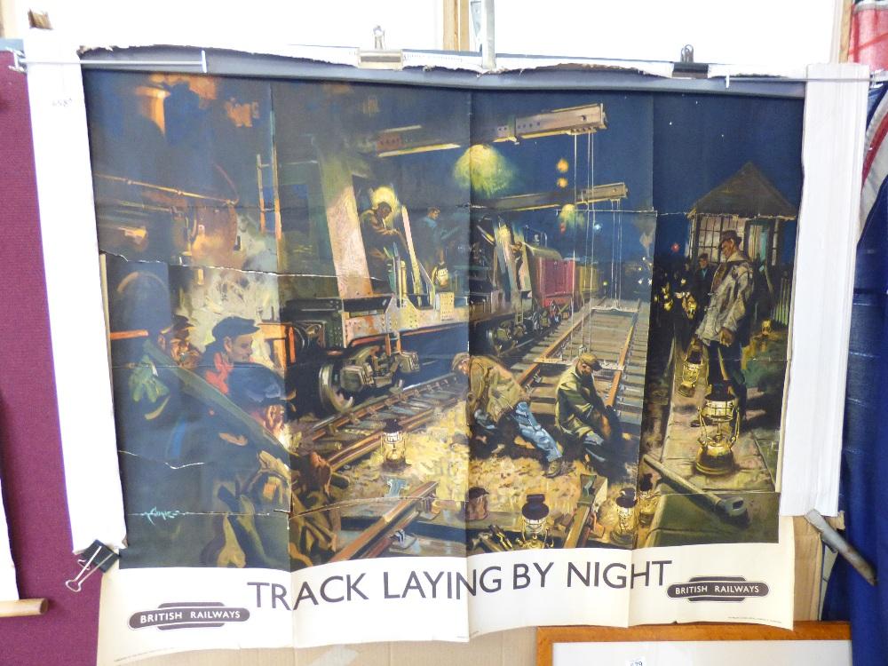 Final, british railways track laying by night think