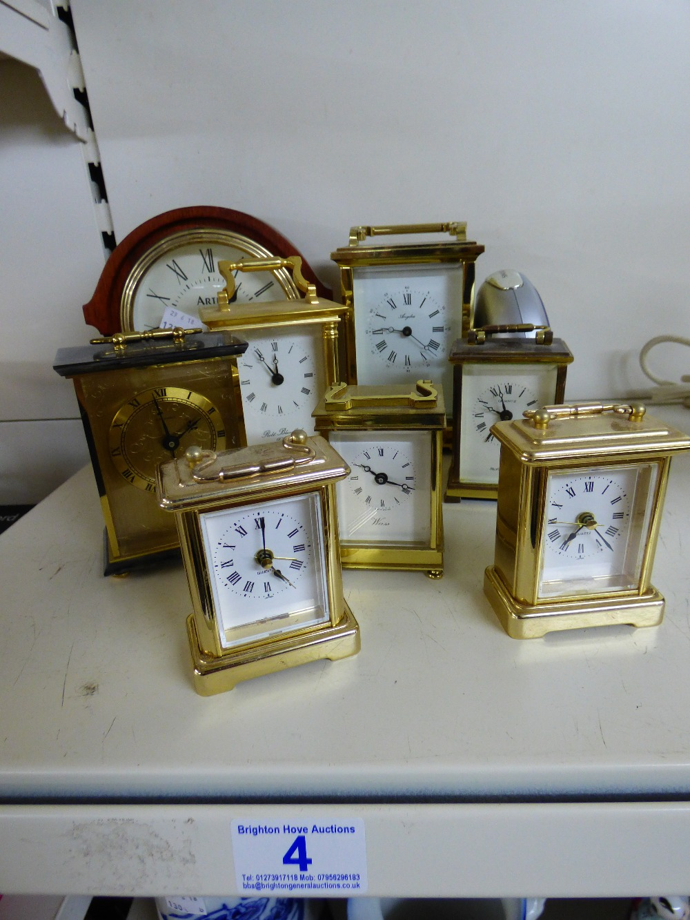 Lot 4 - QUANTITY OF CLOCKS INCLUDING WEISS & ARTEX