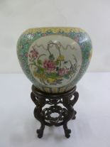 Lot 155 - Chinese Daoguang famile rose vase, six character mark to base