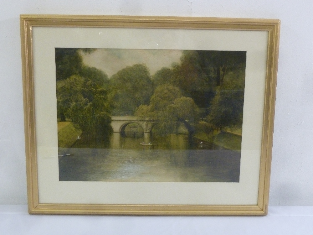 Lot 50 - Frederick P. Shuckard framed and glazed watercolour of boats on a river by a bridge, signed bottom