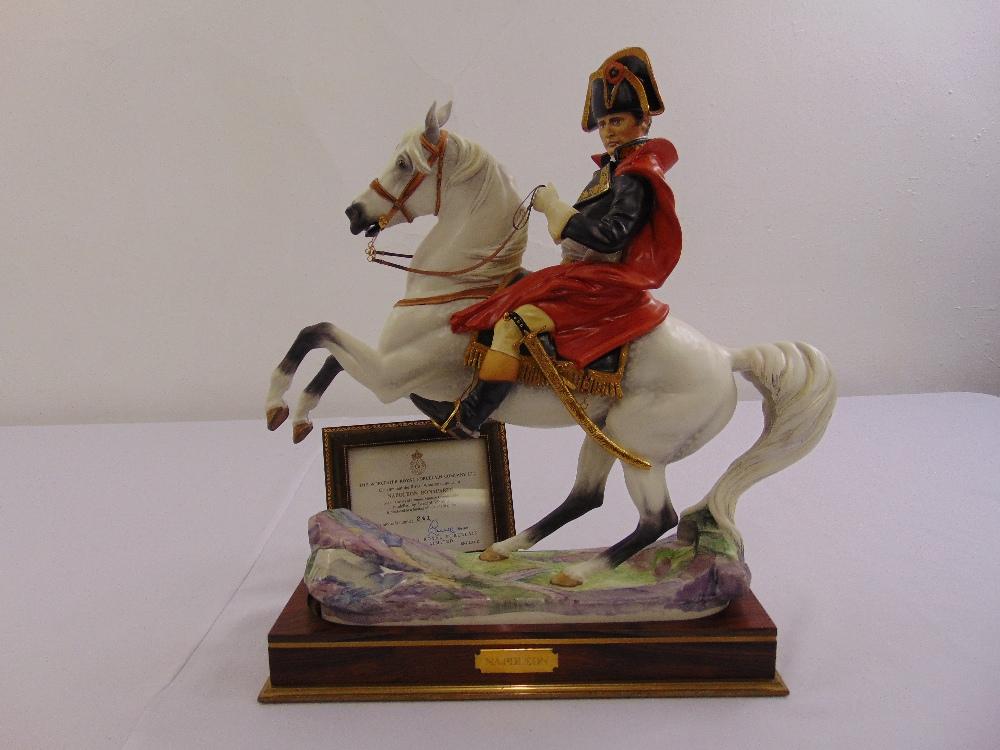 Lot 177 - Royal Worcester figurine of Napoleon on horseback limited edition 241/750, modelled by Bernard