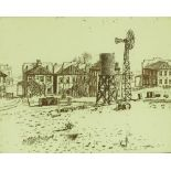 Leon Pericles (born 1949), etching, Gold Town, 197