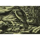 E Mervyn Taylor (1906-1964), woodblock print, King