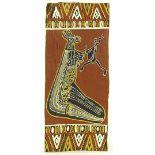 3 - 20th century aboriginal bark paintings, larges