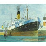 Frank Patterson (1871-1952), watercolour, Steamshi