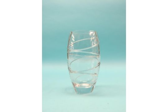 A Large Waterford Glass Vase Designed By Jasper Conran Aura 1375in