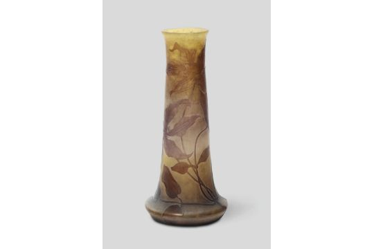 Emile Gall Nancy France 1900 Ca A Truncated Cone Shaped Glass