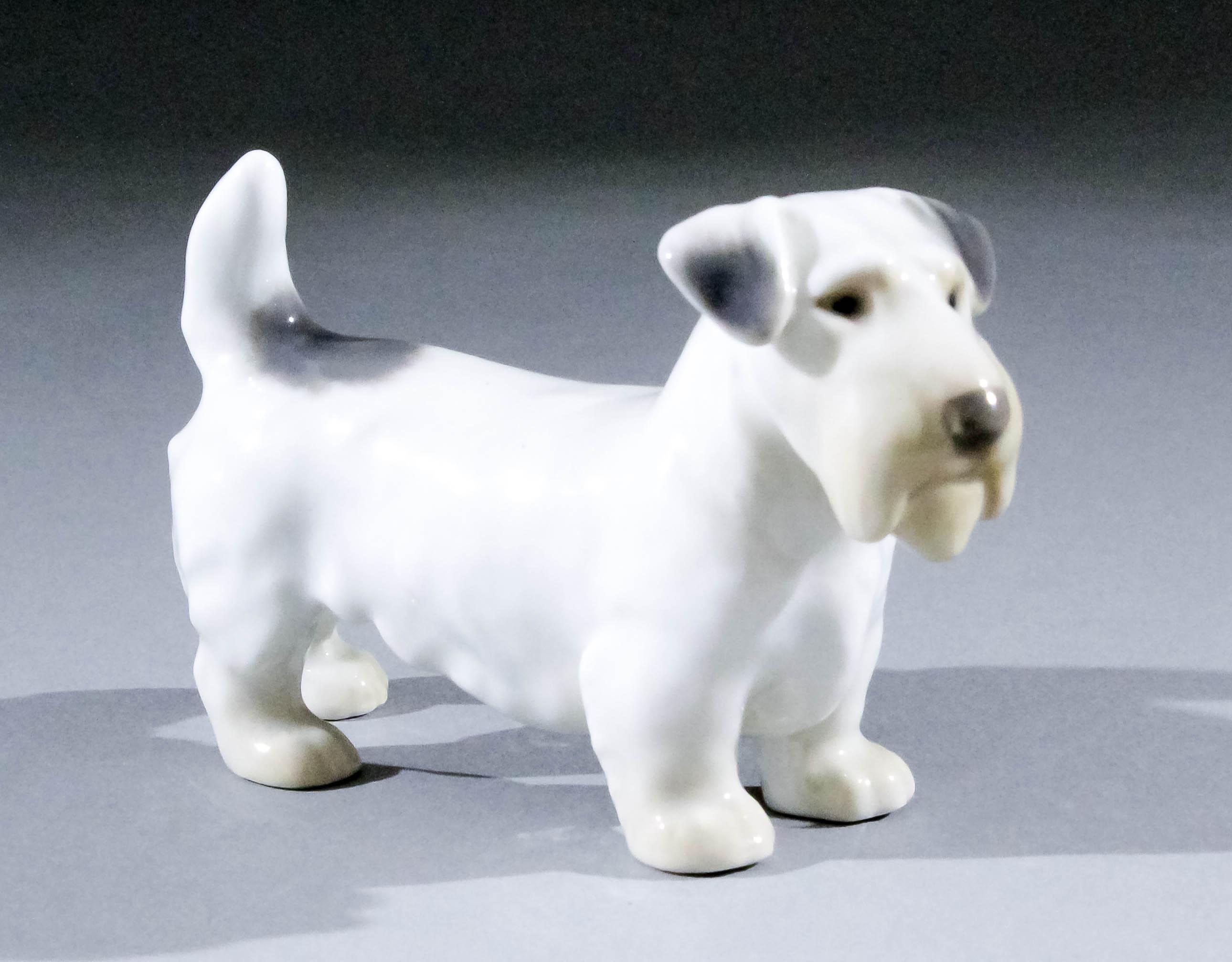 A Bing Grondahl Standing Figure Of Sealyham Terrier 25ins High