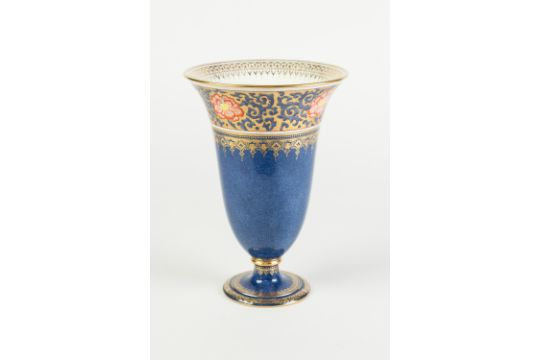 Wedgwood China Vase Of Flared Footed Form Decorated With A Band