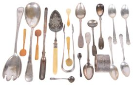 A collection of Georgian and later silver flatware