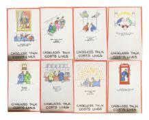 Fougasse, Kenneth Bird (1887-1965) 'Careless Talk costs Lives'