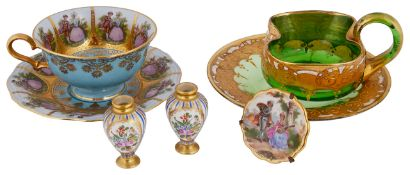 A collection of Limoges, Hirsch and JK Decor glasswares