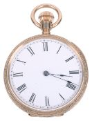 A 10ct gold Waltham ladies open faced pocket watch