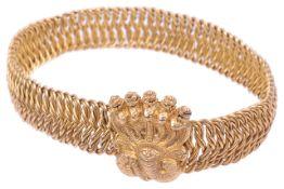 A Victorian era Indian yellow metal bracelet