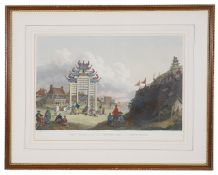 William Alexander 'View of a Pai-loo, improperly called a Triumphal Arch, and of a Chinese Fortress'