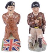 Two Kevin Francis porcelain figurines of General GS Paton and Field Marshall Montgomery