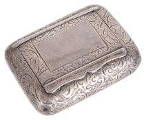 A Victorian silver snuff box, hallmarked Birmingham 1896